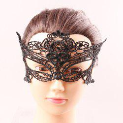 Upper Half Face Goddess Black Lace Carnival Masquerade Hollow Out Masks -