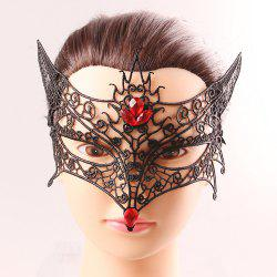 Fox Modelling Faux Gem Half Face Lace Cut Out Carnival Masquerade Masks
