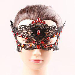 Bat strass Lace Cut Out Demi Masques - Noir