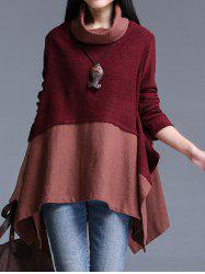 Asymmetrical Patchwork Sweater -