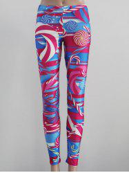 Printed Tight Fit Leggings - COLORMIX XL
