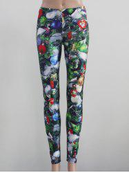 Tight Fit Printed Leggings - Multicolore