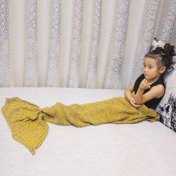 Magic Sofa Decor Knitted Mermaid Blanket For Kids