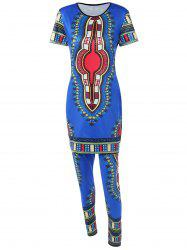 Long Printed T-Shirt and Ethnic Style Pants -