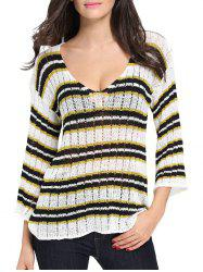 Stripes Crochet Sweater