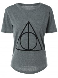 Fitting Geometric Print T-Shirt -