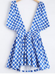 High-Low Polka Dot Dress -