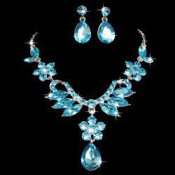 A Suit of Faux Crystal Necklace and Earrings -