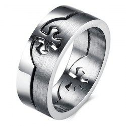 Detachable Cross Titanium Steel Ring - SILVER