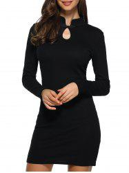 Cutwork Long Sleeves Bodycon Dress