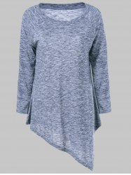 Heathered Asymmetrical T-Shirt