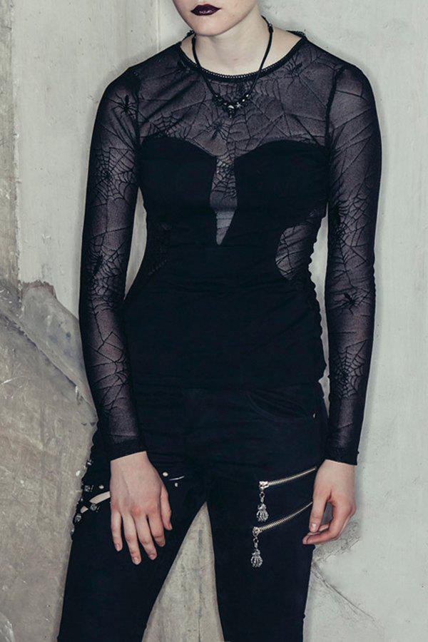 Fashion Spider Web See Thru Top