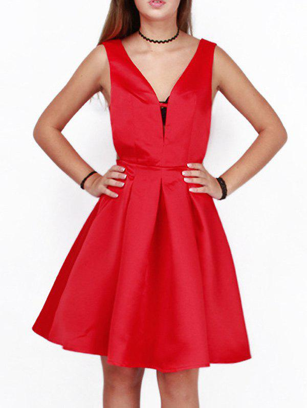 Online Cut Out A Line Cocktail Dress