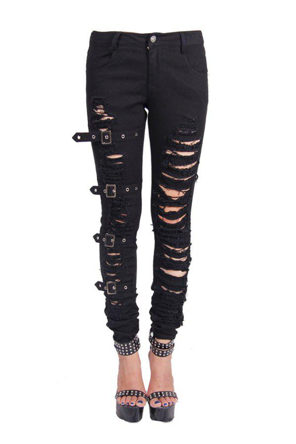 Fancy Ripped Skinny Denim Pants