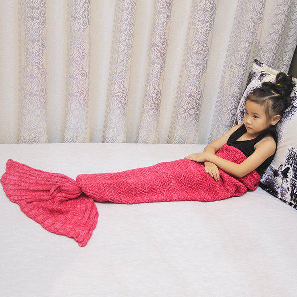 Magic Sofa Decor Knitted Mermaid Blanket For KidsHOME<br><br>Color: RED; Type: Knitted; Material: Acrylic; Pattern Type: Others; Size(L*W)(CM): 141CM*70CM; Weight: 0.6840kg; Package Contents: 1 x Blanket;