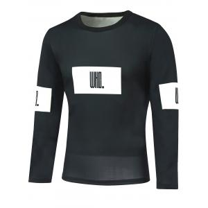Round Neck Long Sleeve Letter Print T-Shirt