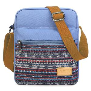 Zip Canvas Crossbody Bag - Azure