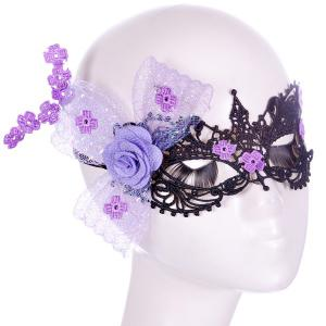 Flower Elastic Hair Band Party Mask
