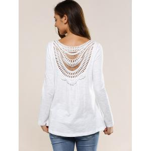 Hollow Out Back Blouse