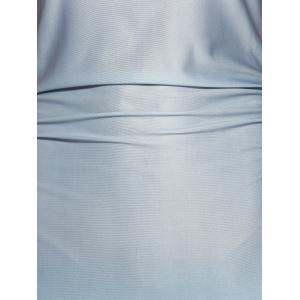 Fitting Ombre Maxi Dress - BLUE S