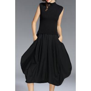 Sleeveless Knit Baggy Dress
