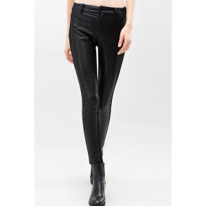 Skinny PU Leather Pencil Pants - Black - L