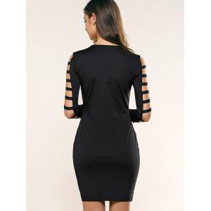 Cut Out Sleeve Bodycon Dress -