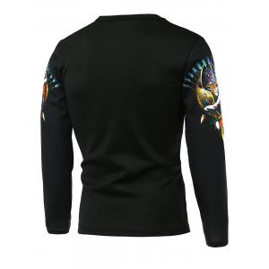Novel Shield 3D Printed Long Sleeve T-Shirt -