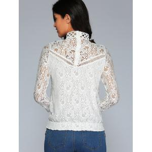 Color Block Lace Blouse -