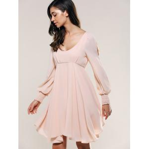 Slit Sleeve Open Back Dress -
