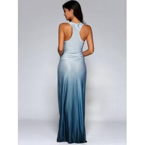 Fitting Ombre Maxi Dress - BLUE XL