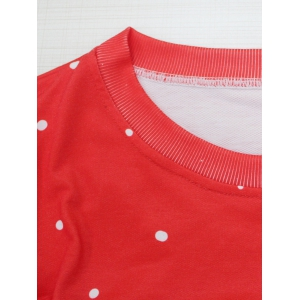 Color Block Christmas Sweatshirt - RED WITH WHITE XL
