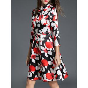 Fitting Floral Shirt Dress -
