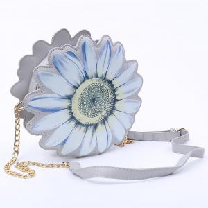 Chic Flower Shape and Chains Design Crossbody Bag For Women -