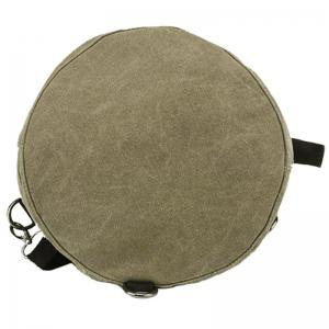 Simple Canvas and Drawstring Design Backpack For Men - KHAKI