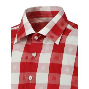 Long Sleeve Two-Tone Checked Shirt -