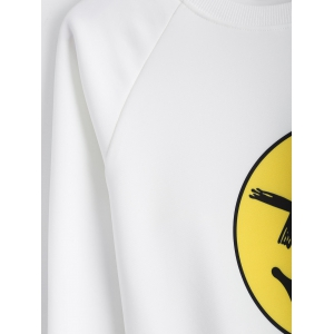 Smile Face Pullover Sweatshirt -
