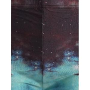 Elastic Waist Galaxy Print Leggings -