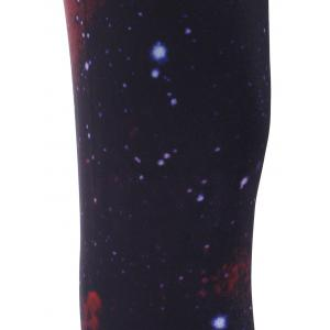 Elastic Waist Galaxy Printed Leggings -