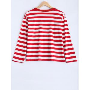 Striped Smile Face Graphic T-Shirt -
