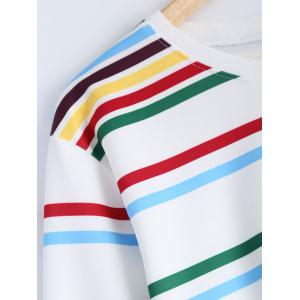 Cropped Striped Tasseled T-Shirt -