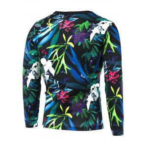 3D All-Over Floral Printed Long Sleeve T-Shirt -