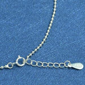 Beaded Chain Anklet - SILVER
