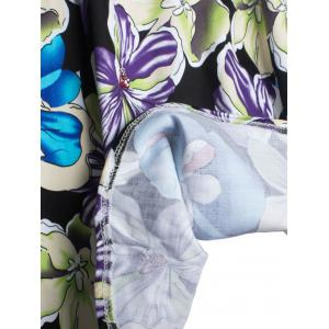 Floral Print Zippered A-Line Skirt -