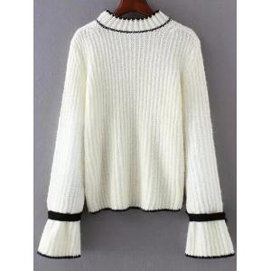 Crew Neck Long Sleeve Bowknot Sweater -