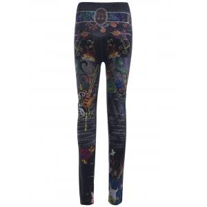 High Waist Butterfly and Girl Print Leggings -