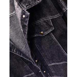 Button Up Dark Wash Jean Jacket -