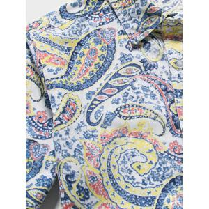 Casual Paisley Printed Long Sleeve Hawaiian Shirt -