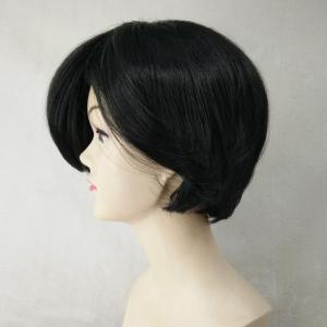 Short Fluffy Side Bang Capless Heat Resistant Fiber Wig -