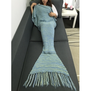 Tassel design Crochet Knitting Mermaid Tail style Blanket - Multicolore